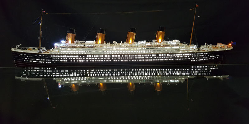 Titanic model side view